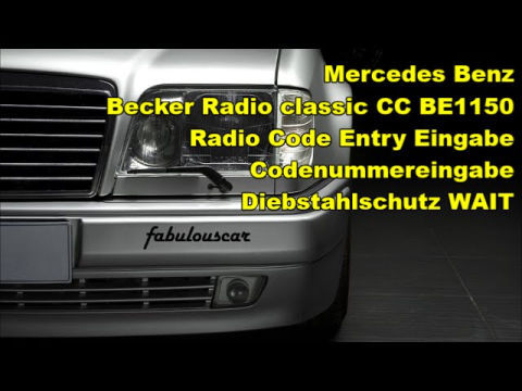 Becker radio ausbauen radio code in k rzester zeit for Mercedes benz radio code