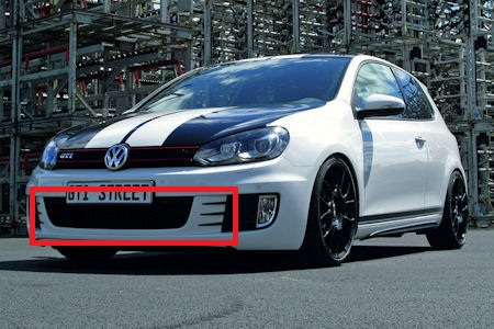vw golf gti street 1 suche folie f r sto stange in candy white vw golf 6 203894974. Black Bedroom Furniture Sets. Home Design Ideas