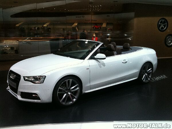 a5 cabrio weiss a5 facelift offiziell audi a5 b8. Black Bedroom Furniture Sets. Home Design Ideas