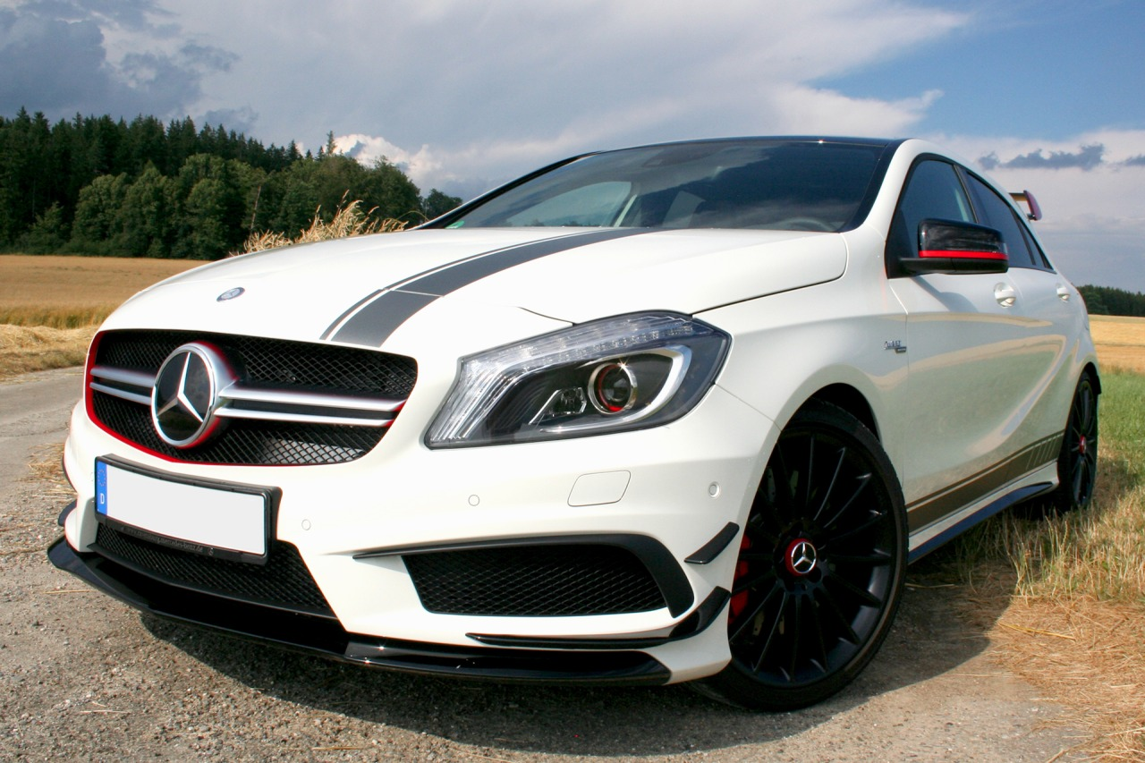 mercedes a45 amg edition 1 testfahrt scoundrel. Black Bedroom Furniture Sets. Home Design Ideas