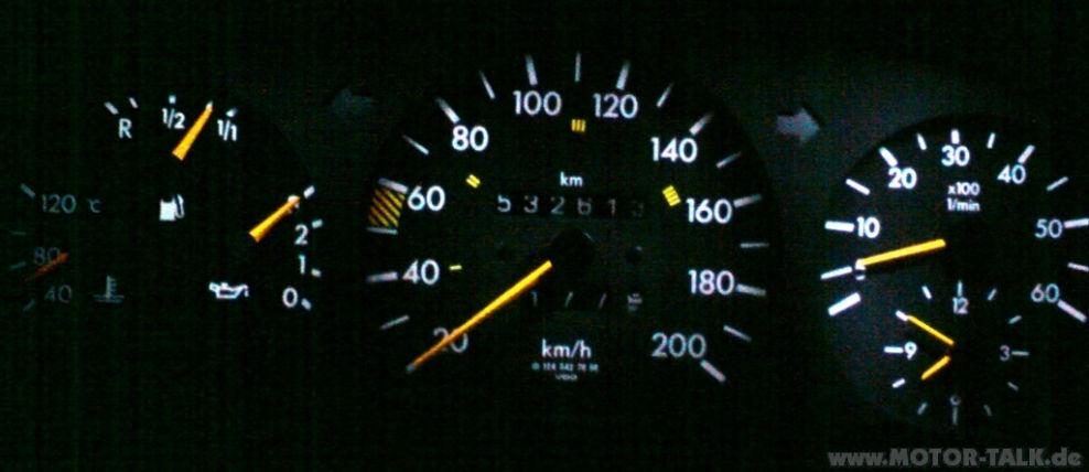 Mercedes Benz E Klasse W Tachobeleuchtung