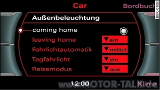 reisemodus codierungen hier sammeln audi a4 b8 203275518. Black Bedroom Furniture Sets. Home Design Ideas