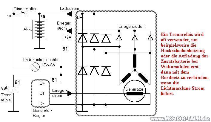 Lima Schaltplan Lichtmaschine Ladet Nicht Richtig Audi