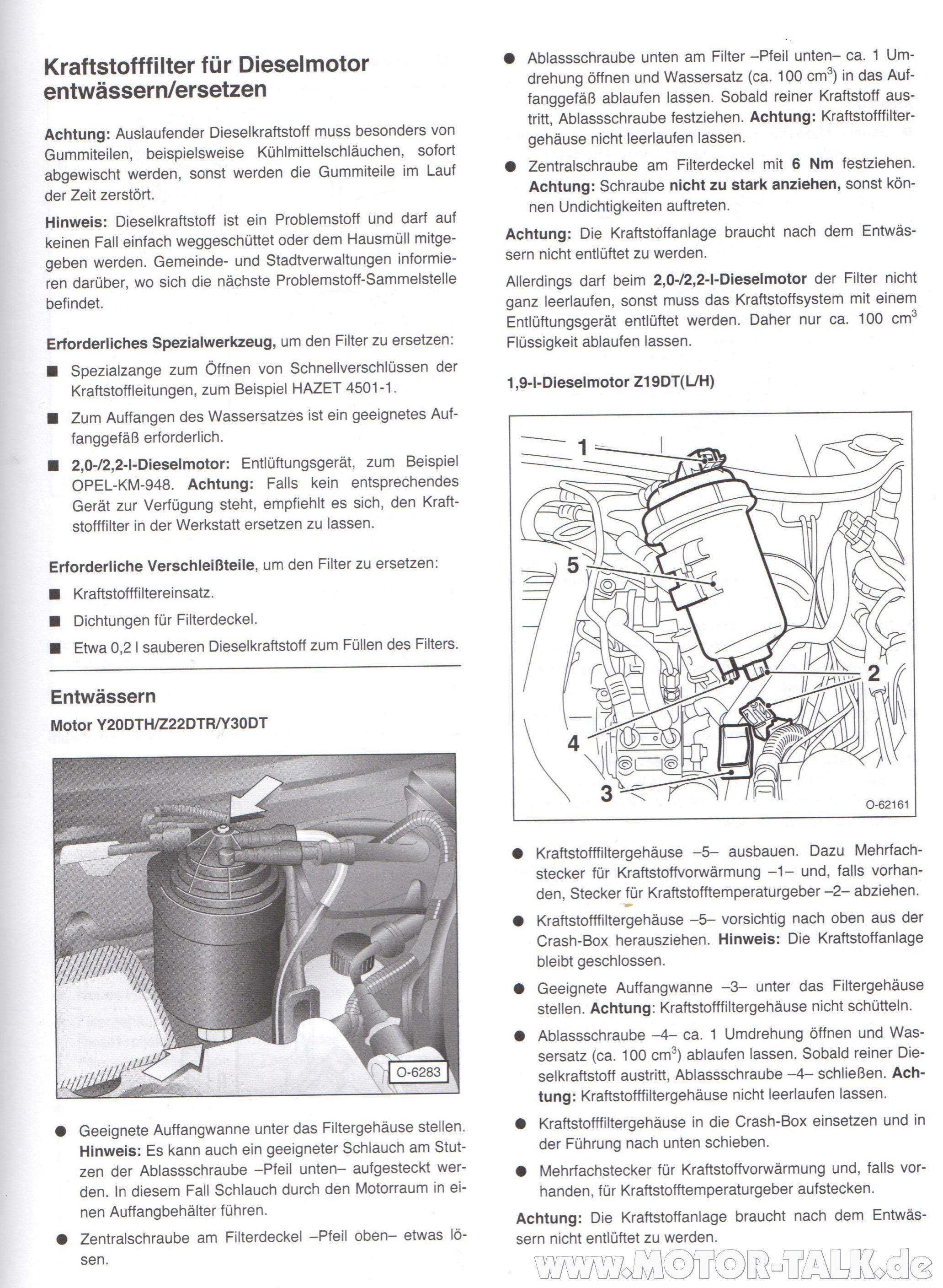 Kraftstoffilter Ersetzen Und Entw 228 Ssern1