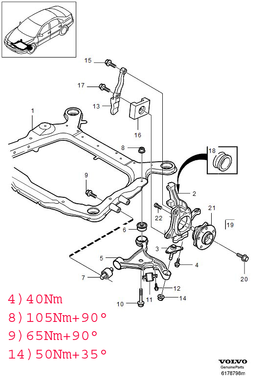 2001 volvo s60 suspension diagram