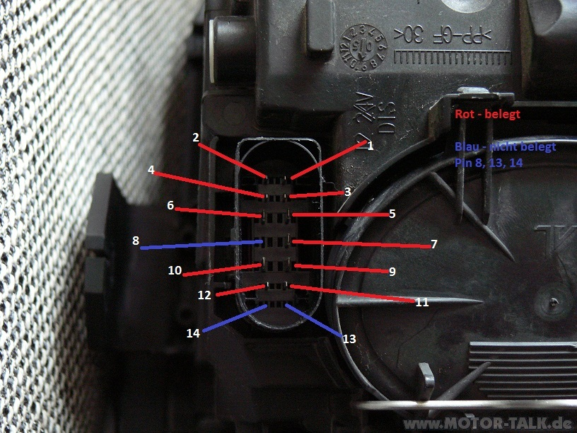 Binbelegung Bi Xenon Scheinwerfer Pinbelegung Vom