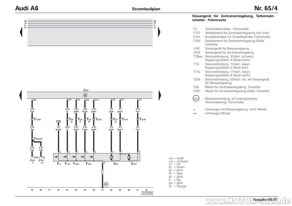 Wunderbar Audi A6 Schaltplan Ideen - Der Schaltplan ...