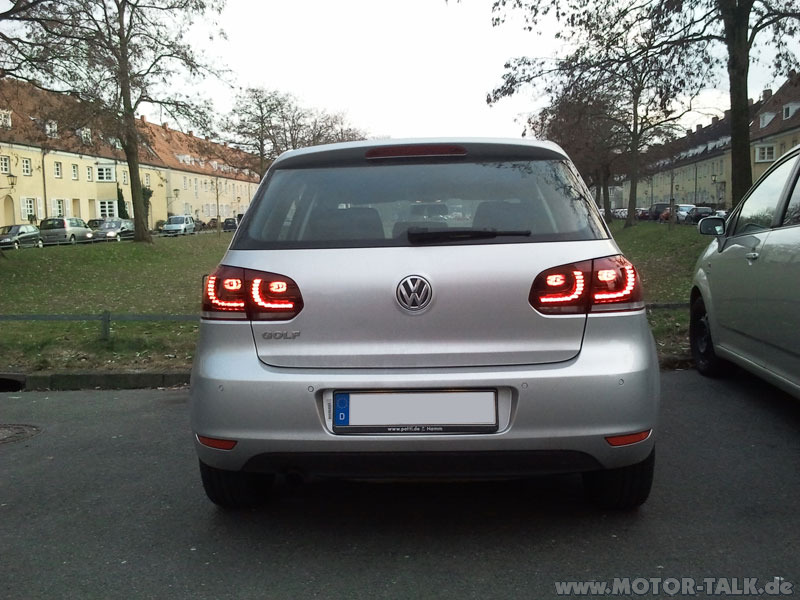 golf 6 led r ckleuchten vw golf vi 1k 1 2 tsi test. Black Bedroom Furniture Sets. Home Design Ideas