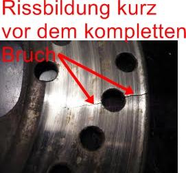 dsc09436 wann sollten bremsscheiben erneuert werden rissbildung mercedes c klasse w204. Black Bedroom Furniture Sets. Home Design Ideas