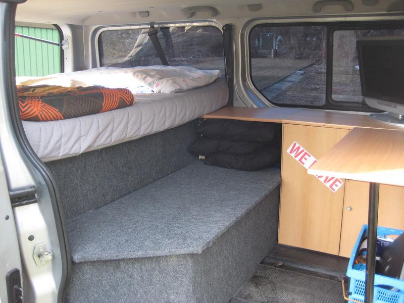 opel vivaro eigenbau eignung pkw zum bernachten f r 2. Black Bedroom Furniture Sets. Home Design Ideas