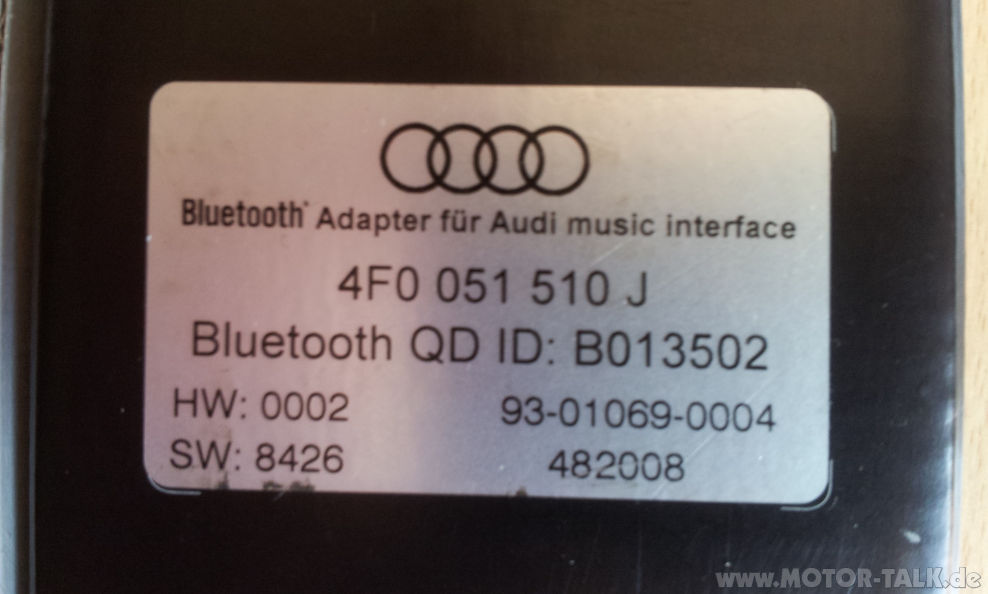 20130623 121632 audi bluetooth adapter f r ami audi. Black Bedroom Furniture Sets. Home Design Ideas