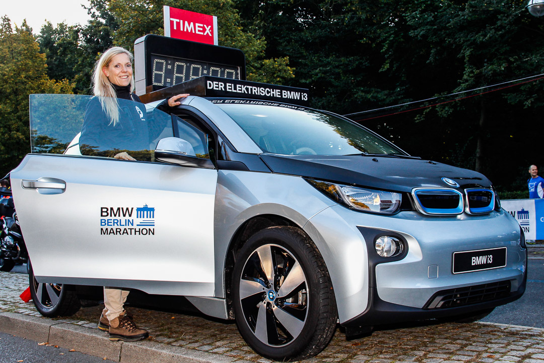 der bmw i3 und motor talk beim berlin marathon bmw i3 i01. Black Bedroom Furniture Sets. Home Design Ideas