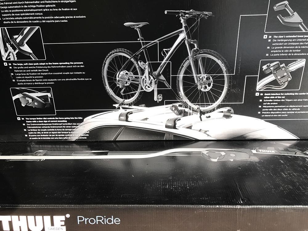 thule komplett set 1x dachtr ger mit 2x fahrradtr ger f r. Black Bedroom Furniture Sets. Home Design Ideas