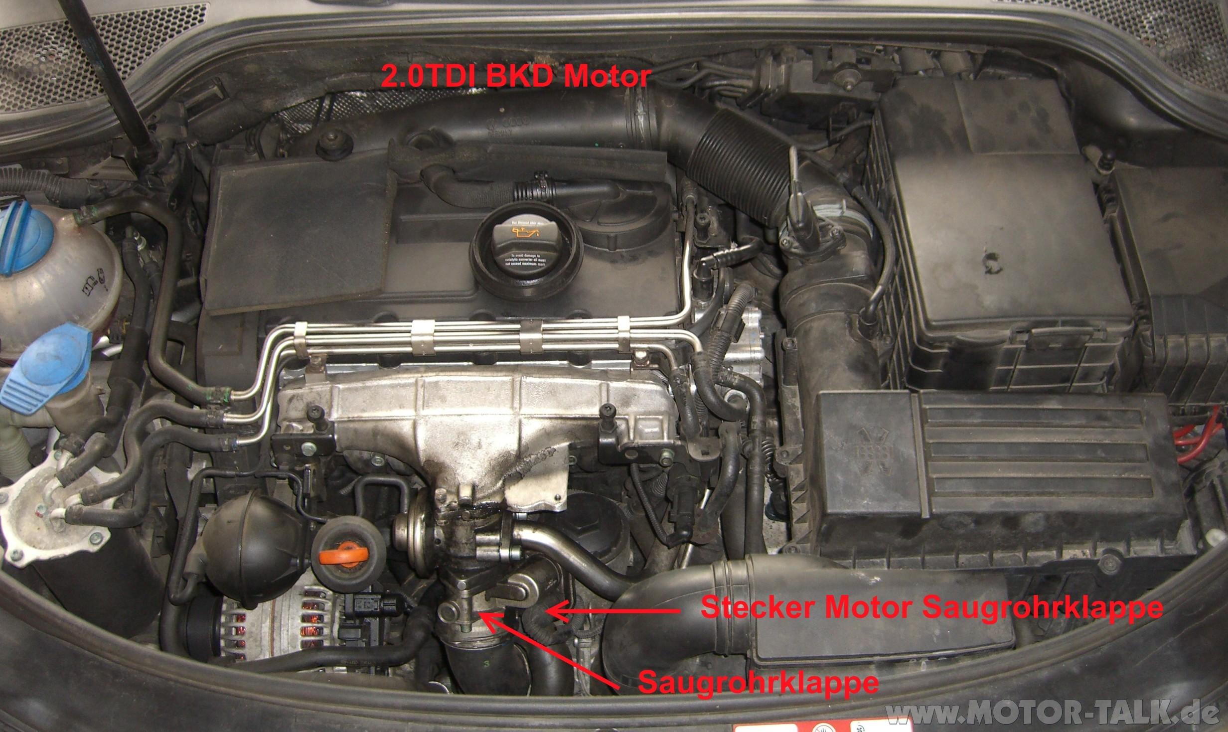 Fehler Motor F 252 R Saugrohrklappe Audi A3 8p Amp 8pa