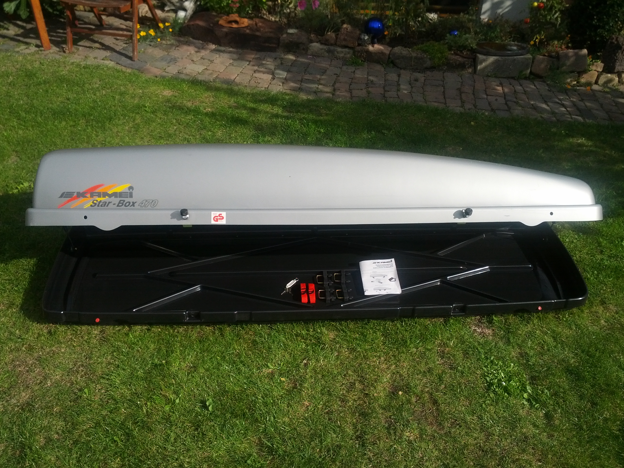 dachbox kamei star box 470 inkl zubeh r jetpack ski box biete. Black Bedroom Furniture Sets. Home Design Ideas