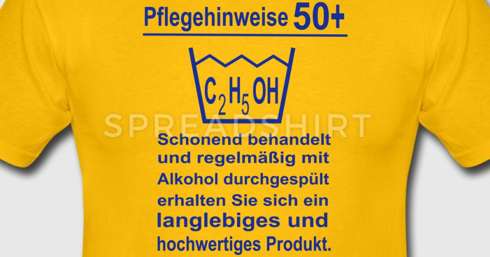 pflegehinweise 50 geburtstag t shirts maenner t shirt. Black Bedroom Furniture Sets. Home Design Ideas