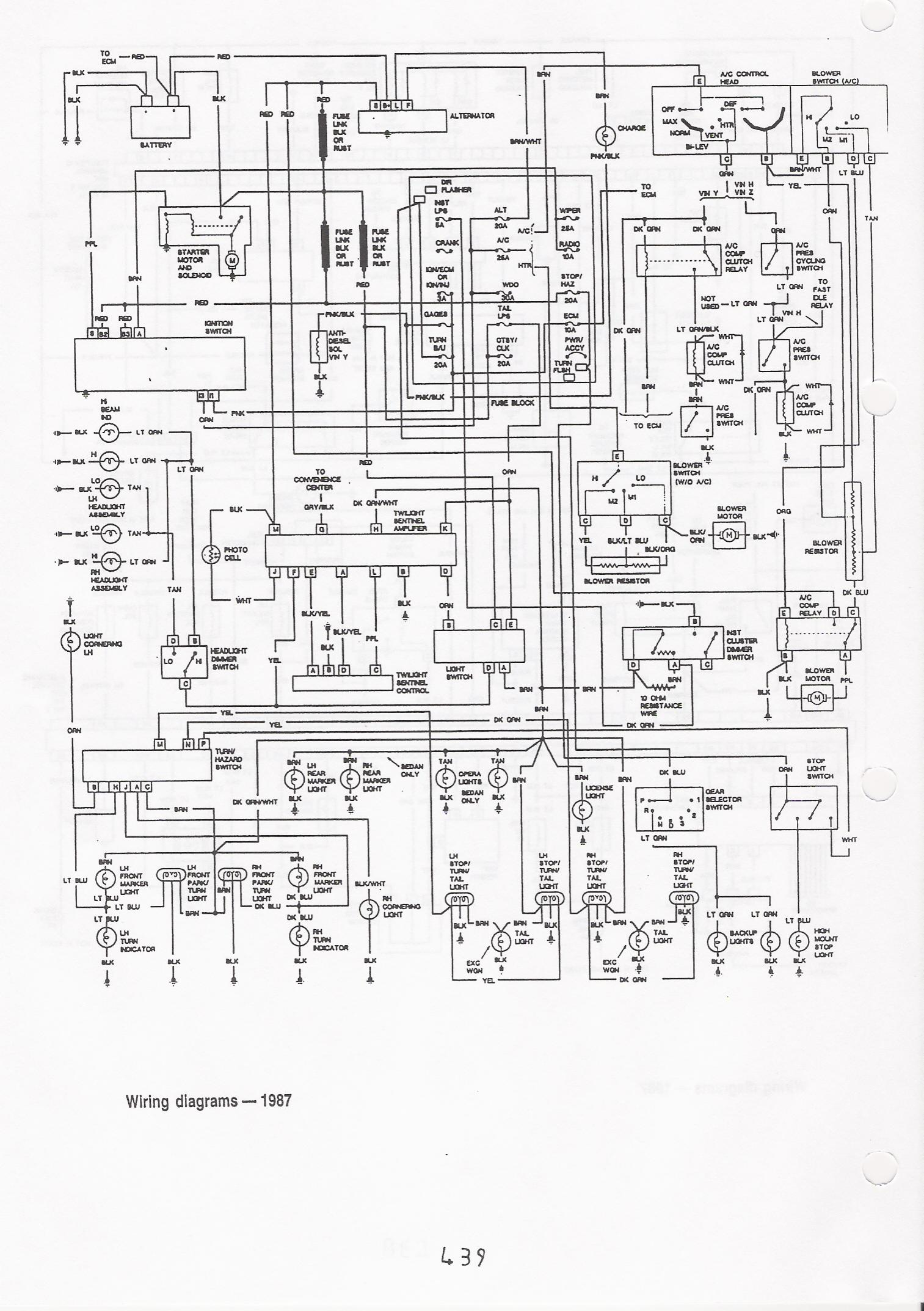 87 camaro alternator wiring diagram