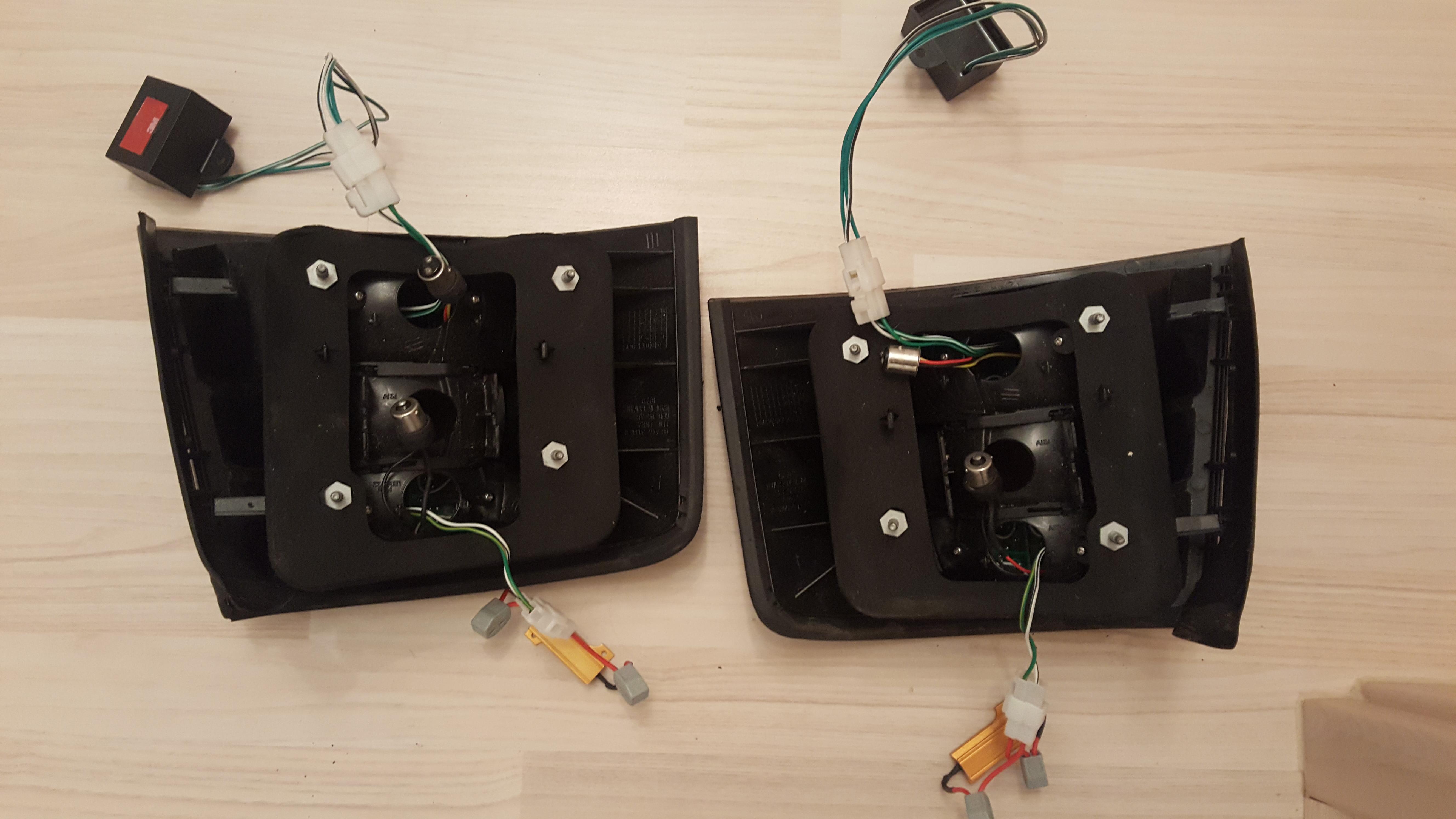 led r ckleuchten audi a6 s6 rs6 4b avant schwarz biete. Black Bedroom Furniture Sets. Home Design Ideas