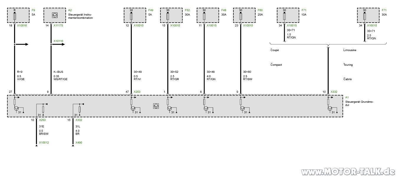 grundmodul pinbelegung von grundmodul bitte um hilfe bmw 3er e46 203280894