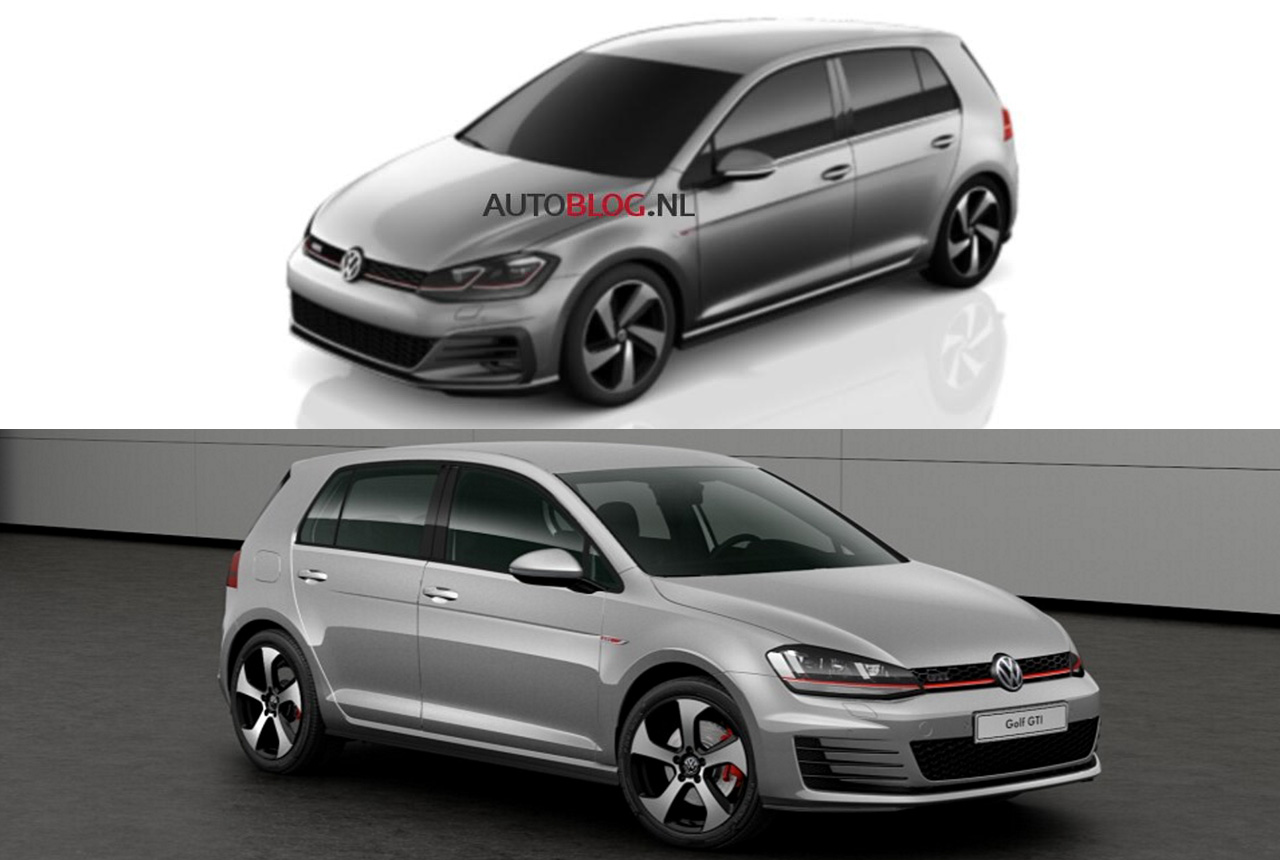 golf 7 facelift 2016 erste bilder vw golf 7 au 5g. Black Bedroom Furniture Sets. Home Design Ideas