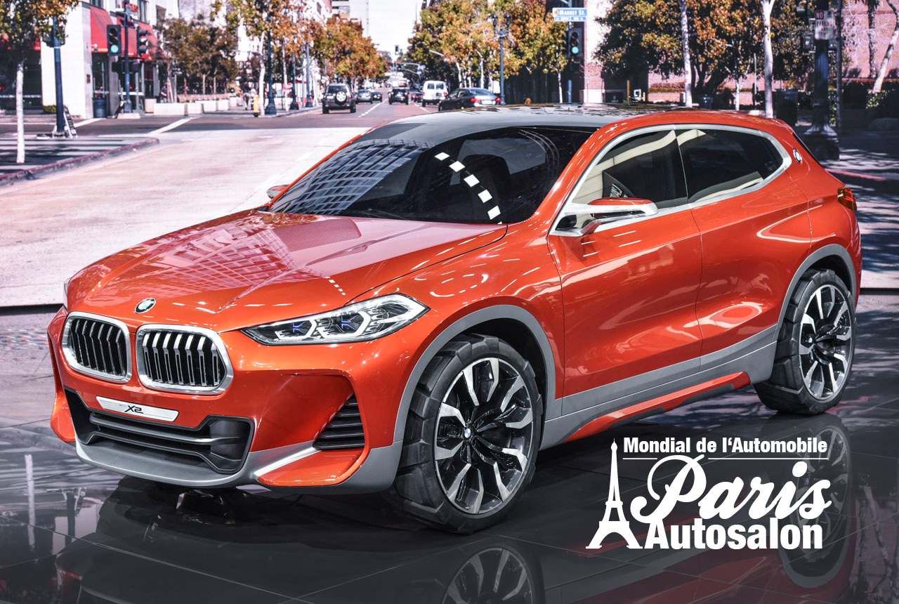 bmw x2 concept premiere in paris. Black Bedroom Furniture Sets. Home Design Ideas