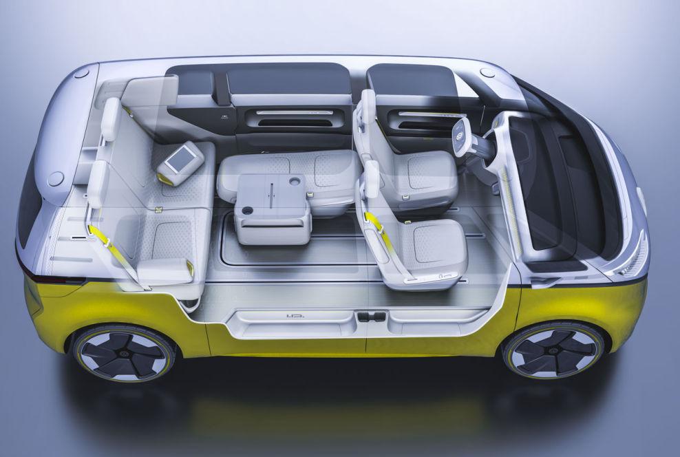 variabler innenraum im vw i d buzz ein vw bus mit bulli. Black Bedroom Furniture Sets. Home Design Ideas