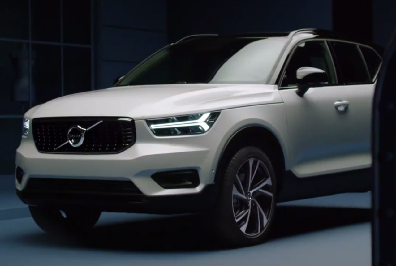 volvo xc40 suv 2017 video leak in ungarn bilder motoren. Black Bedroom Furniture Sets. Home Design Ideas