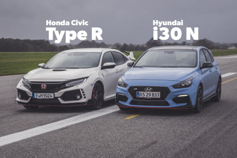 hyundai i30n vs honda civic type r im vergleich test. Black Bedroom Furniture Sets. Home Design Ideas