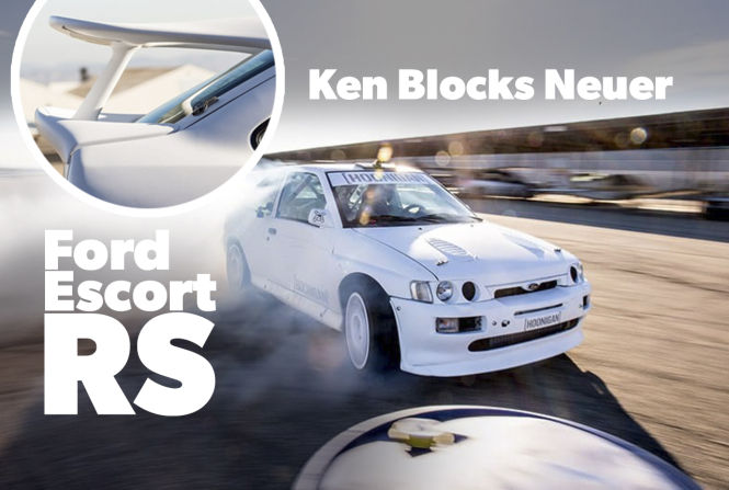 Traumauto der 90er, Youtube-Star von morgen: In Ken Blocks Fuhrpark steht nun ein Escort RS Cosworth. Die Ikone von Ford. Mit dem markantesten Heckspoiler der Automobilgeschichte
