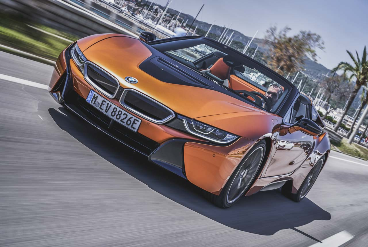bmw i8 roadster i15 2018 im test fahrbericht technische daten preis. Black Bedroom Furniture Sets. Home Design Ideas