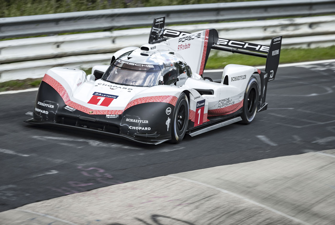 porsche 919 hybrid evo rekord auf der nordschleife. Black Bedroom Furniture Sets. Home Design Ideas