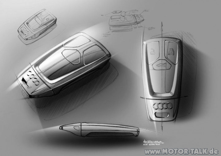 04 new audi tt interior design sketch key fob by. Black Bedroom Furniture Sets. Home Design Ideas