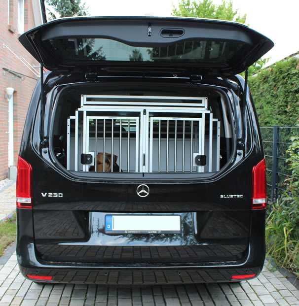 hundebox vklasse 1 hundetransport in der v klasse mit bildern mercedes v klasse vito 447. Black Bedroom Furniture Sets. Home Design Ideas