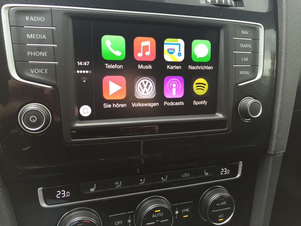 image car net app connect ab heute bestellbar apple carplay androidauto vw golf 7. Black Bedroom Furniture Sets. Home Design Ideas
