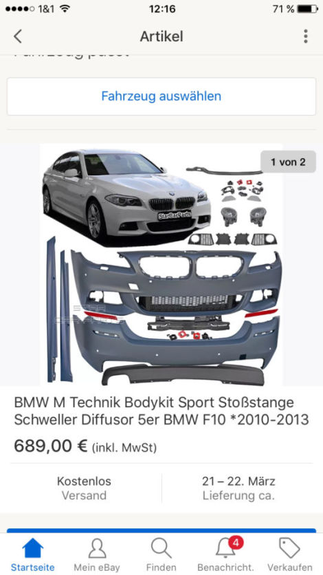 m paket nachr sten bmw 5er f07 gt f10 f11. Black Bedroom Furniture Sets. Home Design Ideas