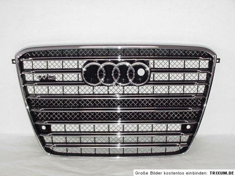 audi a8 4h w12 6 3 grill frontgrill k hlergrill s8 a8 neu. Black Bedroom Furniture Sets. Home Design Ideas