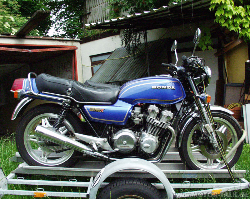 honda cb 750 kz 1979 blau web erfindergeist biker. Black Bedroom Furniture Sets. Home Design Ideas