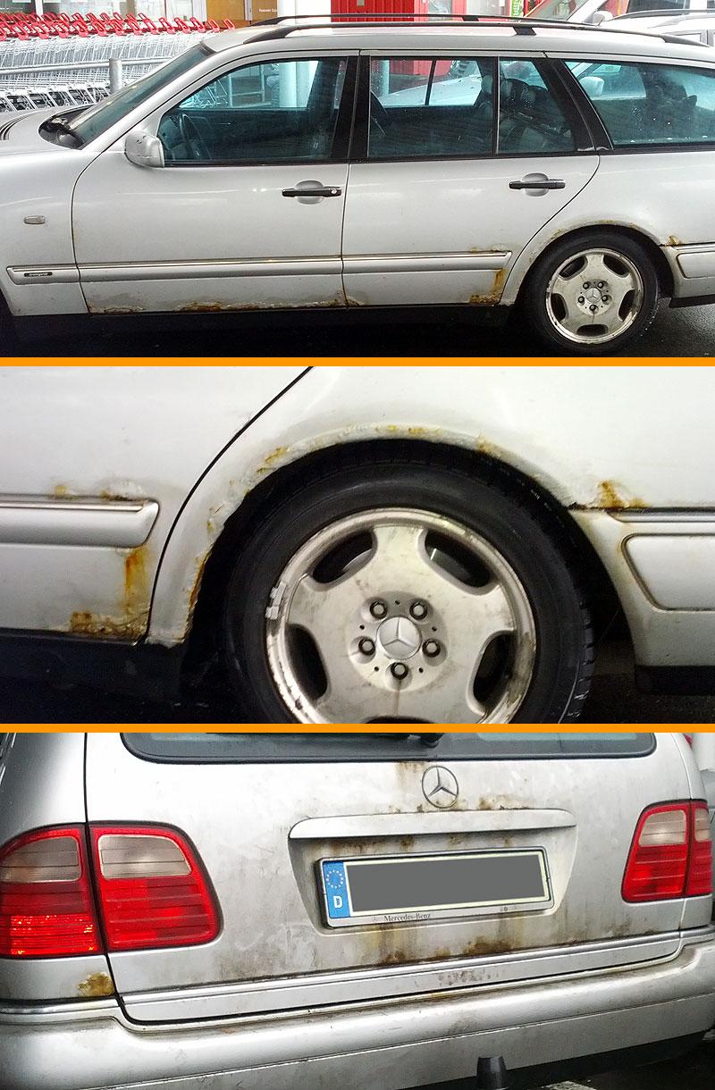 Mercedes S210 Rost : Mercedes W210 Rostperlen