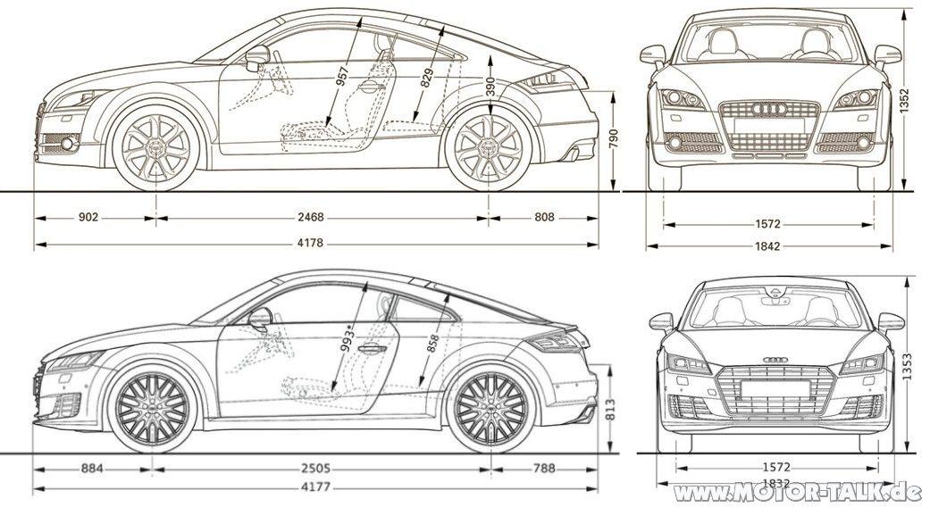 Tt Masse Vgl Neuer Tt Audi Tt 8j 206688720