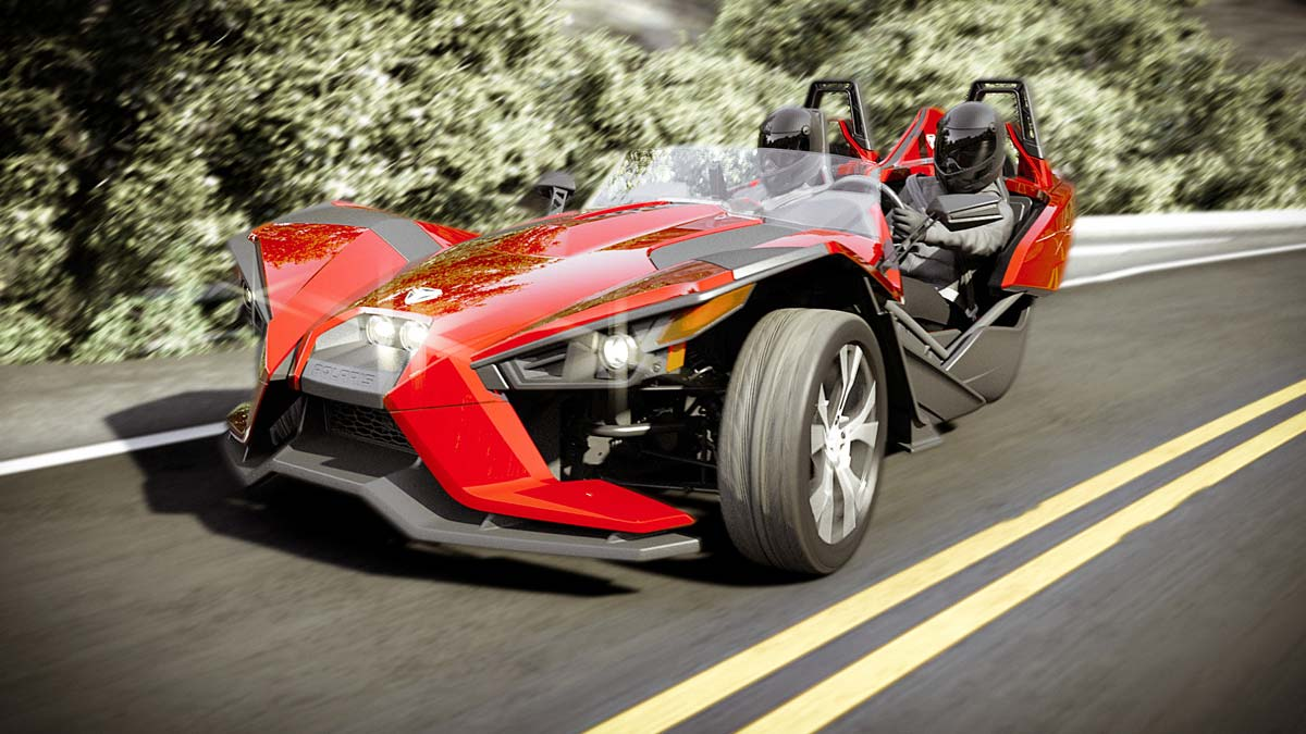 polaris slingshot threewheeler aus den staaten. Black Bedroom Furniture Sets. Home Design Ideas