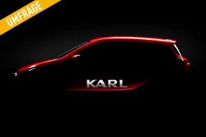 Opel Karl: Außer einer Silhouette gibt es bislang wenig Informationen zum Aussehen des neuen Kleinstwagen