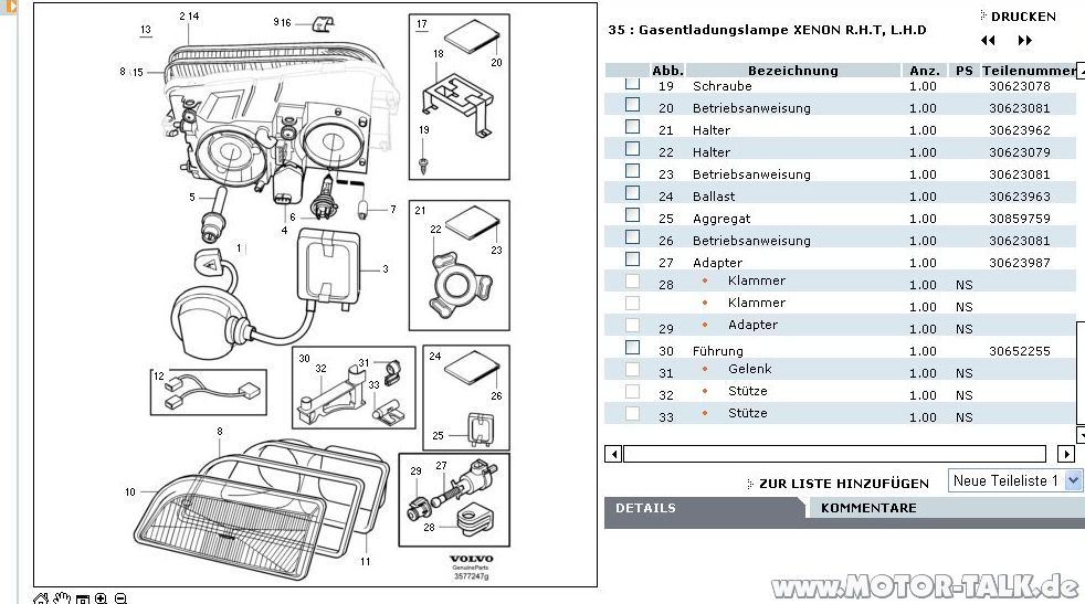 Xenon V on 1995 Volvo 850 Wiring Diagram