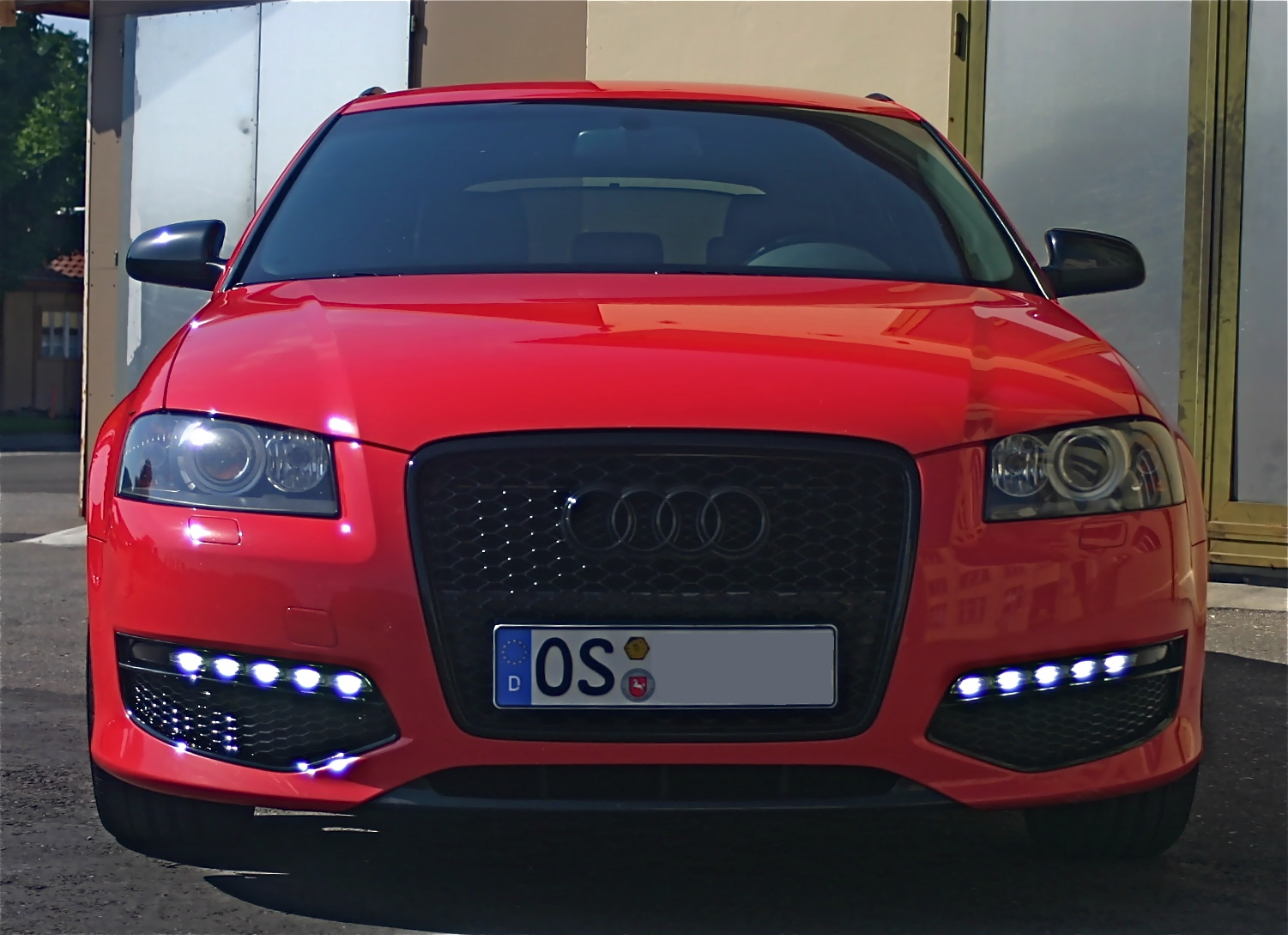 Audi a3 logo lights