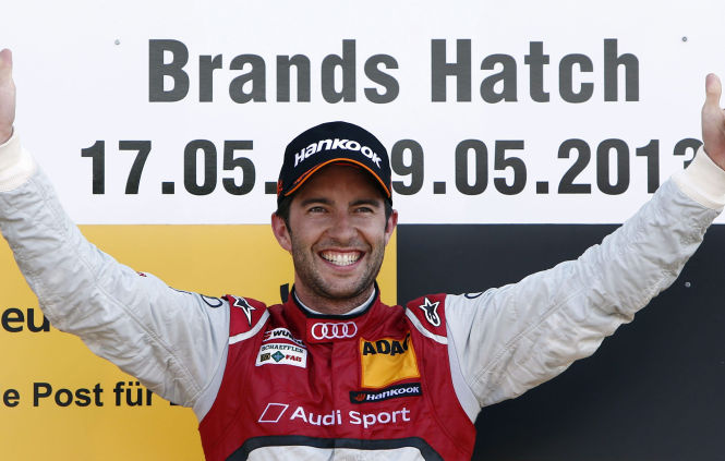 Siegreich in Brands Hatch: Mike Rockenfeller
