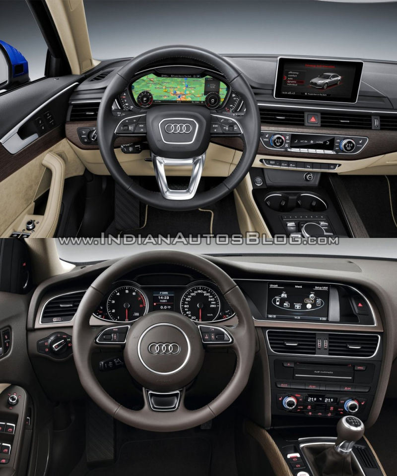 2016 audi a4 b9 vs 2013 audi a4 b8 interior old vs new. Black Bedroom Furniture Sets. Home Design Ideas