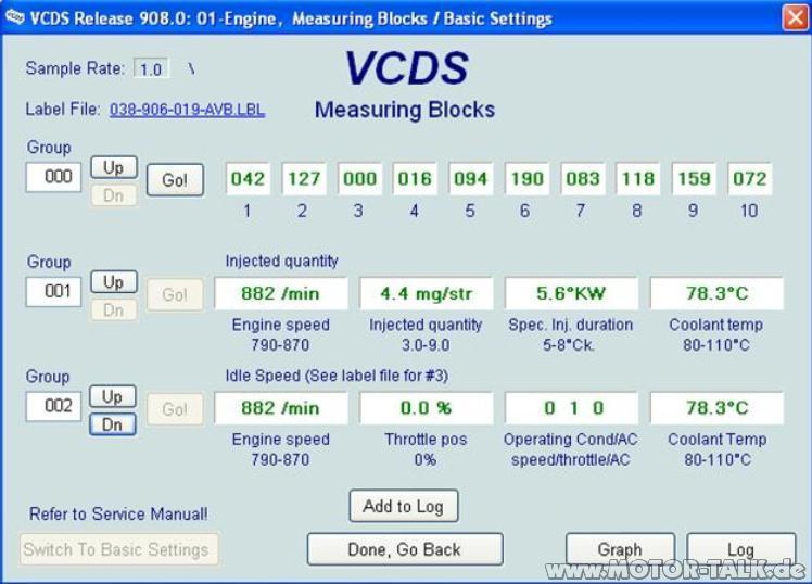 Vcds Temperatur K 252 Hlwasser Auslesen Audi A4 B5