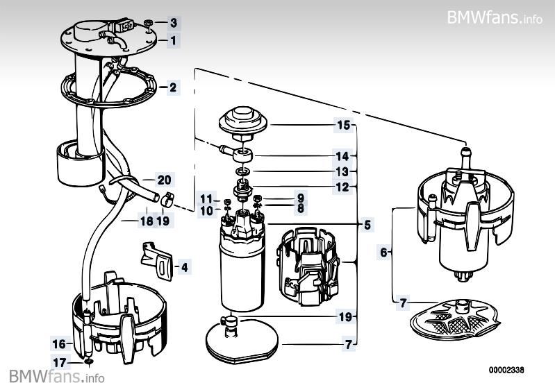 Kraftstoffpumpe1 Benzinpumpe Filter Beim 525i Touring