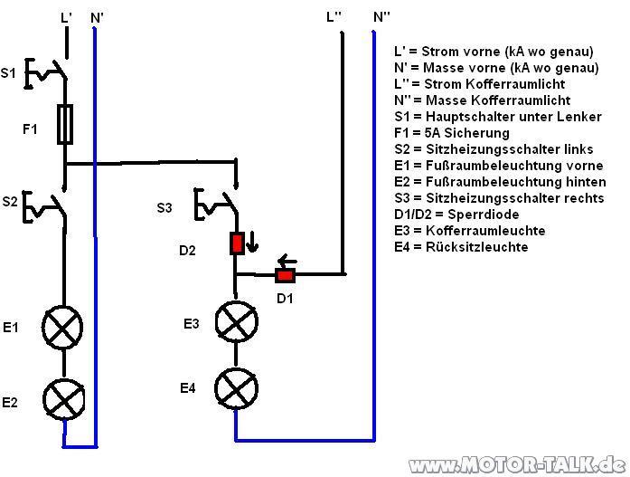 Schaltplan-auto : Kabel von Mittelkonsole in Kofferraum : Opel Astra ...