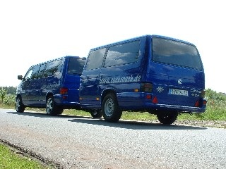 vw t4 und anhaenger blaumetallic 012 sonder kfz. Black Bedroom Furniture Sets. Home Design Ideas