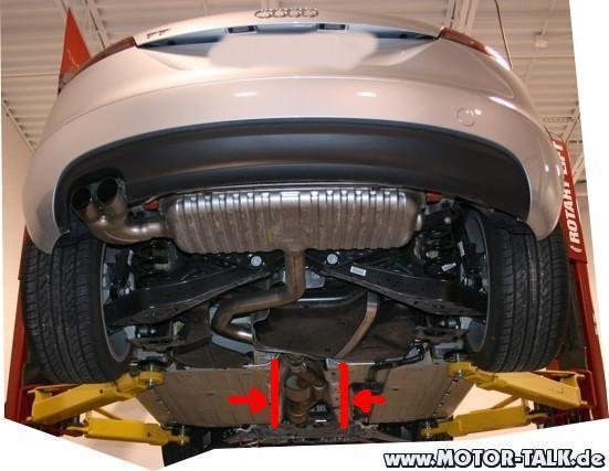 Unterboden Vorschalld 228 Mpfer Tt Audi Tt 8j 202989107